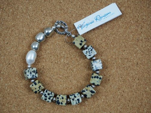 Jasper and Pearl Bracelet