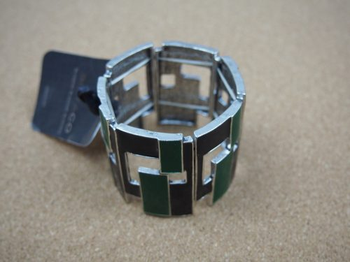 Adelle - Black/Green Enamelled Bracelet