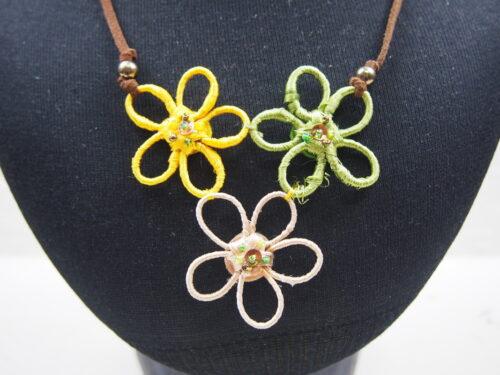 Triple Flower Necklace