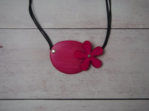 Mod Flower Necklace - Pink
