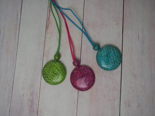 Snakeskin Print Necklace
