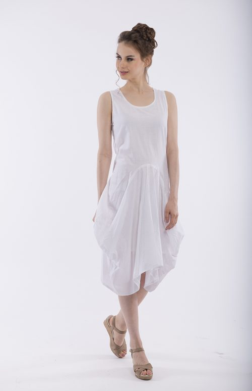 Bubble Dress - White